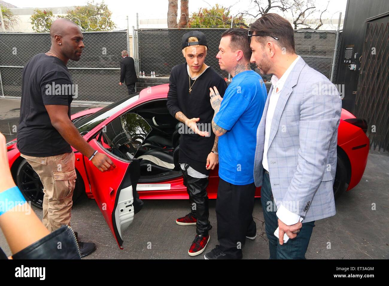 justin bieber meets fans at west coast customs empire takeover auto stock photo 83667380 alamy. Black Bedroom Furniture Sets. Home Design Ideas