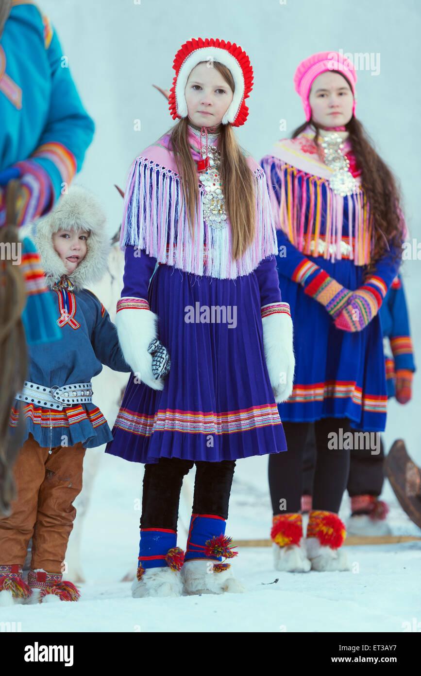 Arctic Circle, Lapland, Scandinavia, Sweden, Jokkmokk ...