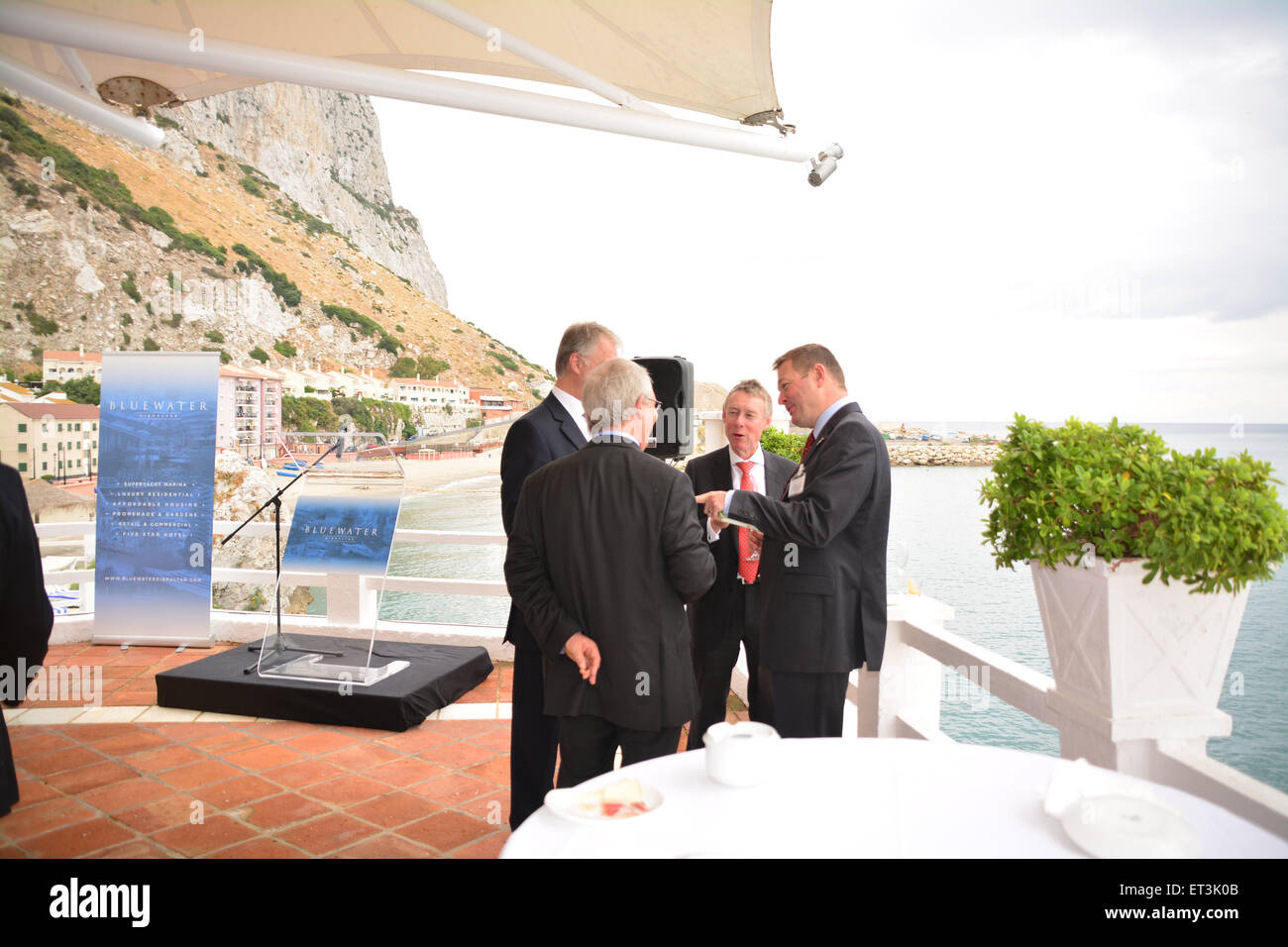 Gibraltar - 11th June 2015 - In a press conference at the Caleta