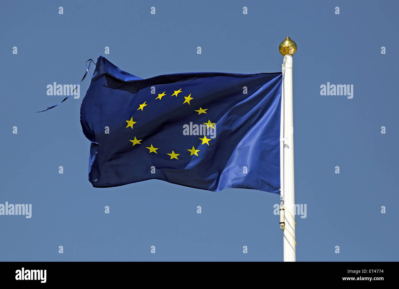 List, Germany, European Union Flag - Stock Image