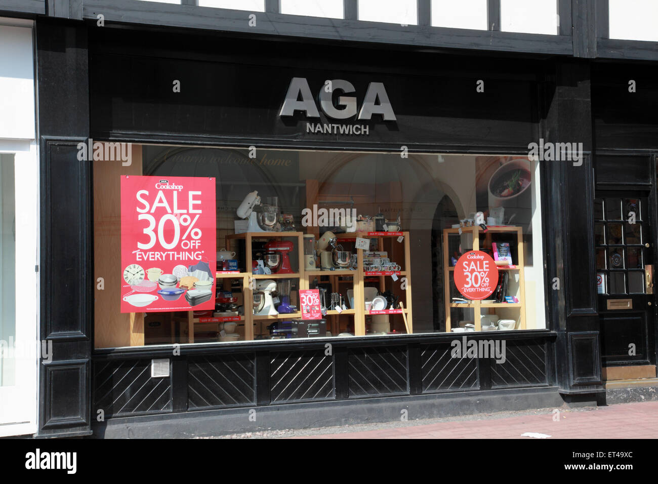 The Aga shop in Nantwich, Cheshire - Stock Image