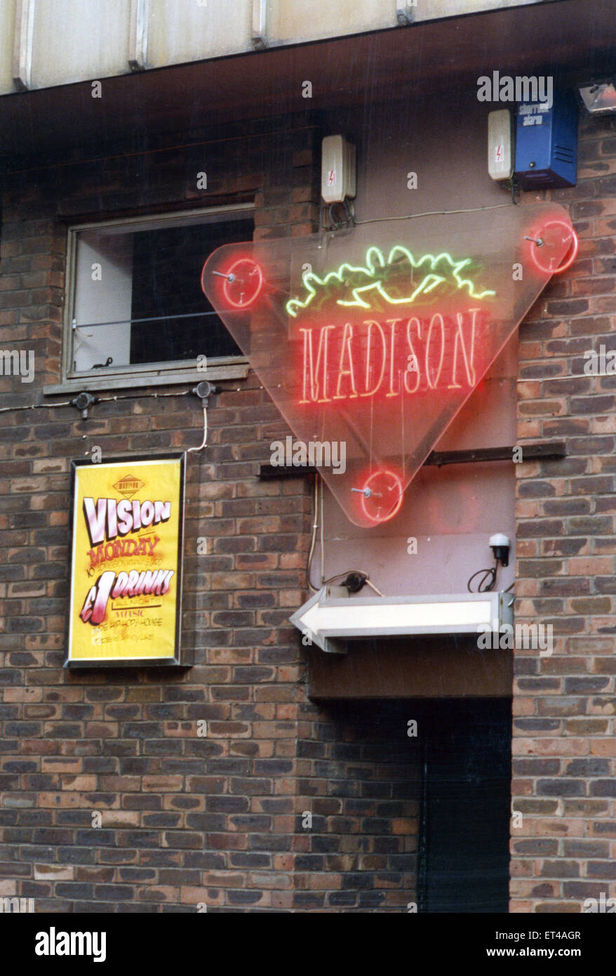 Madison nightclub in Newcastle, Tyne and Wear, circa 1990s. - Stock Image