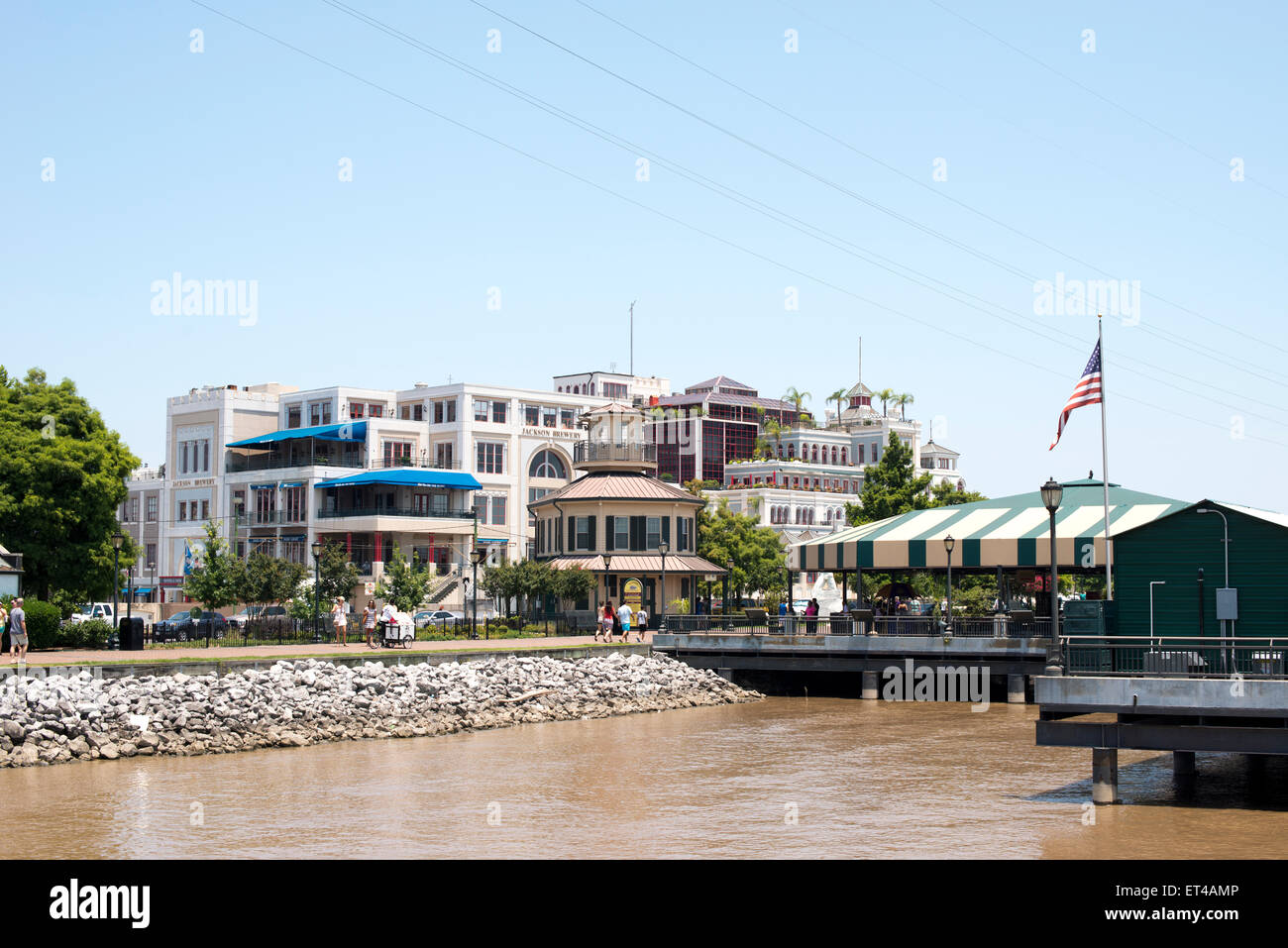 A View Of Jackson Brewery Along The Mississippi Riverfront In New