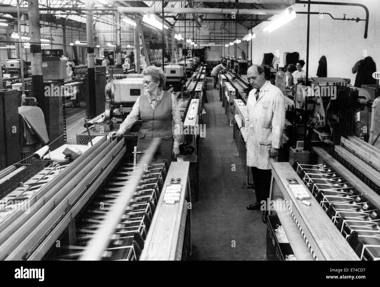 Workers at J & J Cash Ltd.  11th February 1972. - Stock Image