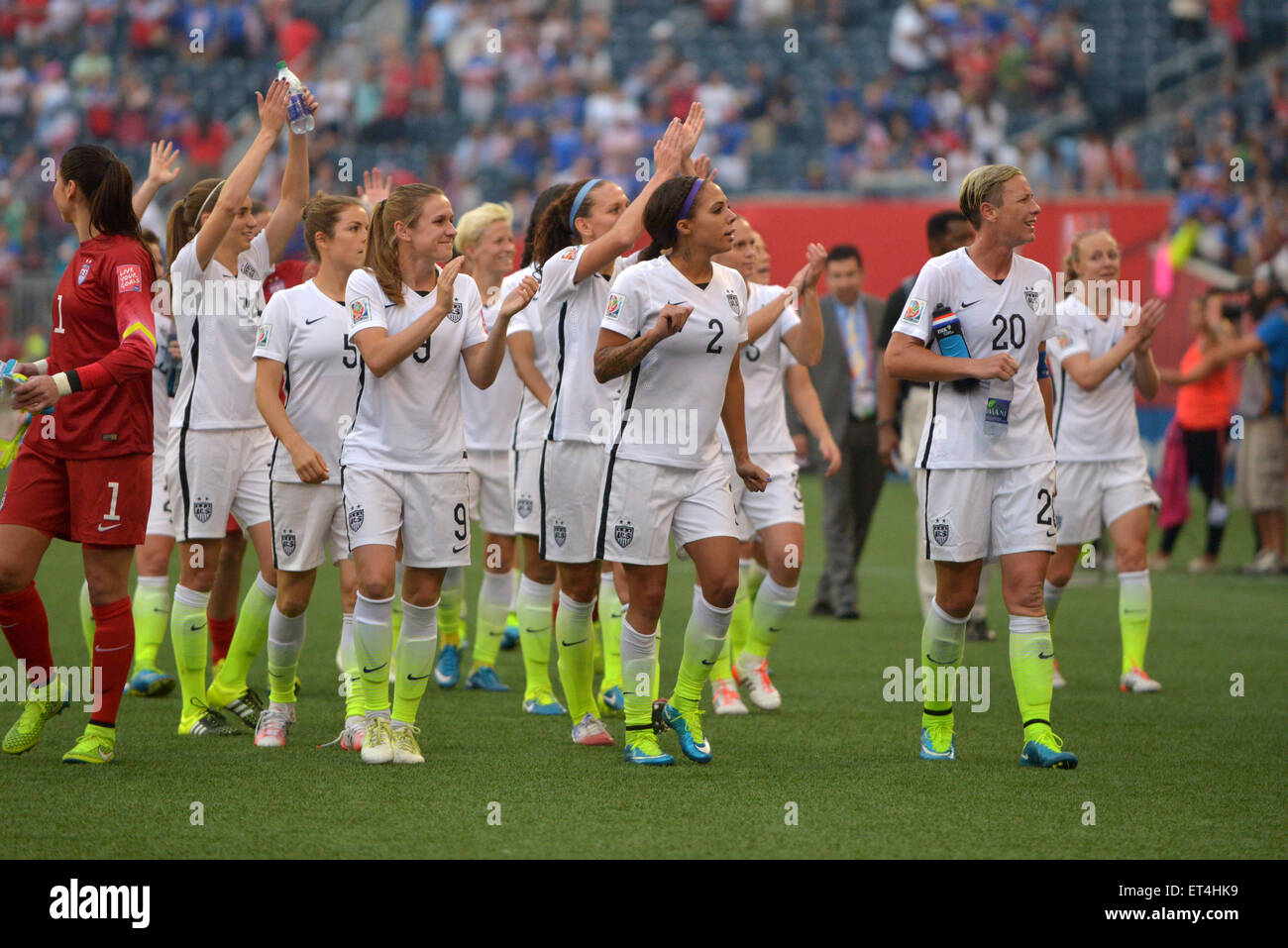 2dae8230f USA women s team after the game during the FIFA Women s World Cup Canada  2015 Group D