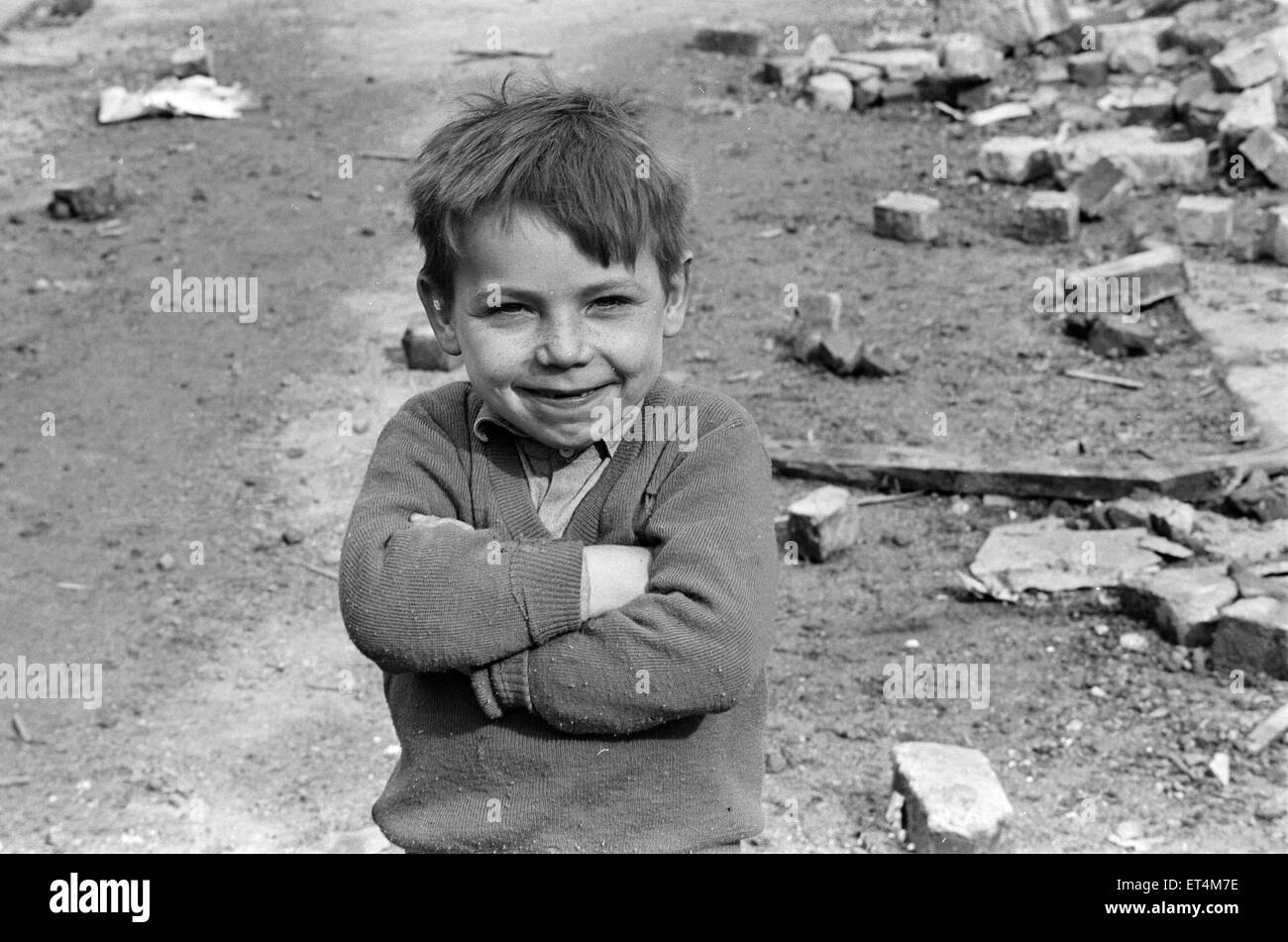 Children who live in no mans land, Belfast, Northern Ireland, 30th March 1971. - Stock Image