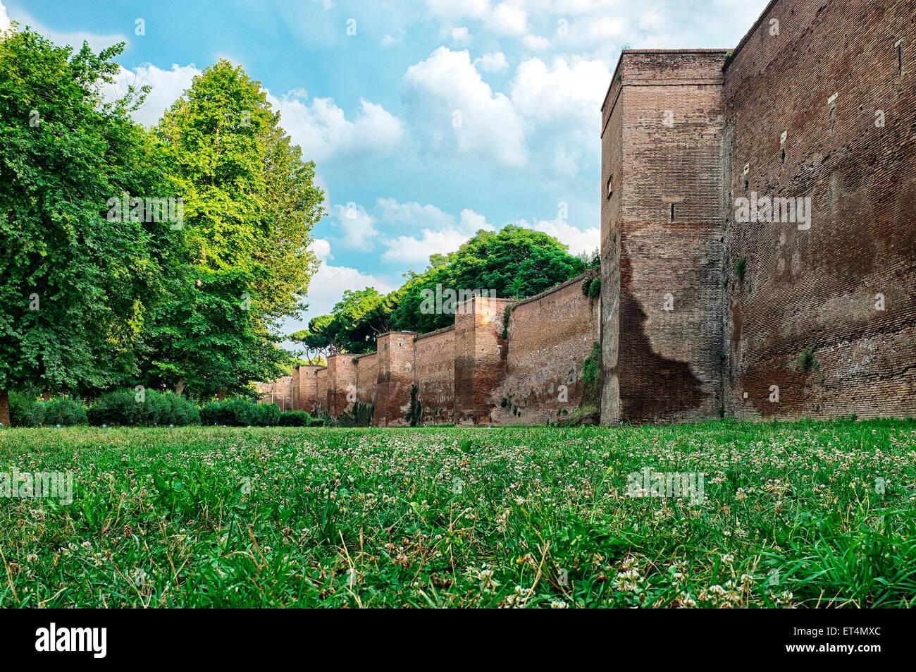 Parco integrato delle mura aureliane, Rome Italy - Stock Image