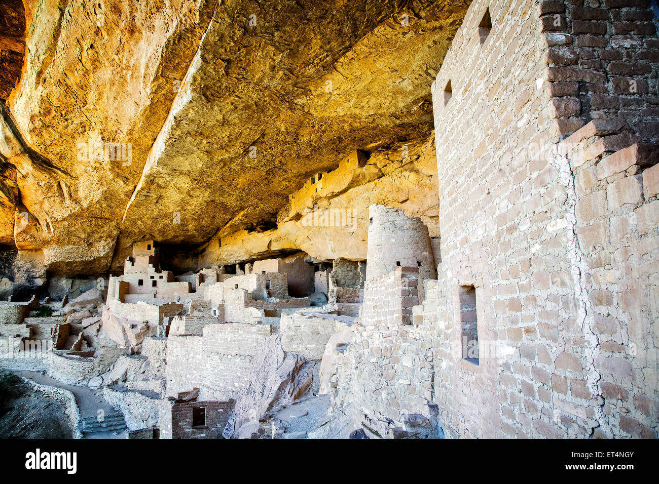 Cliff Palace is one of the most significant Pueblo Indian ruins at Mesa Verde National Park, Colorado - Stock Image