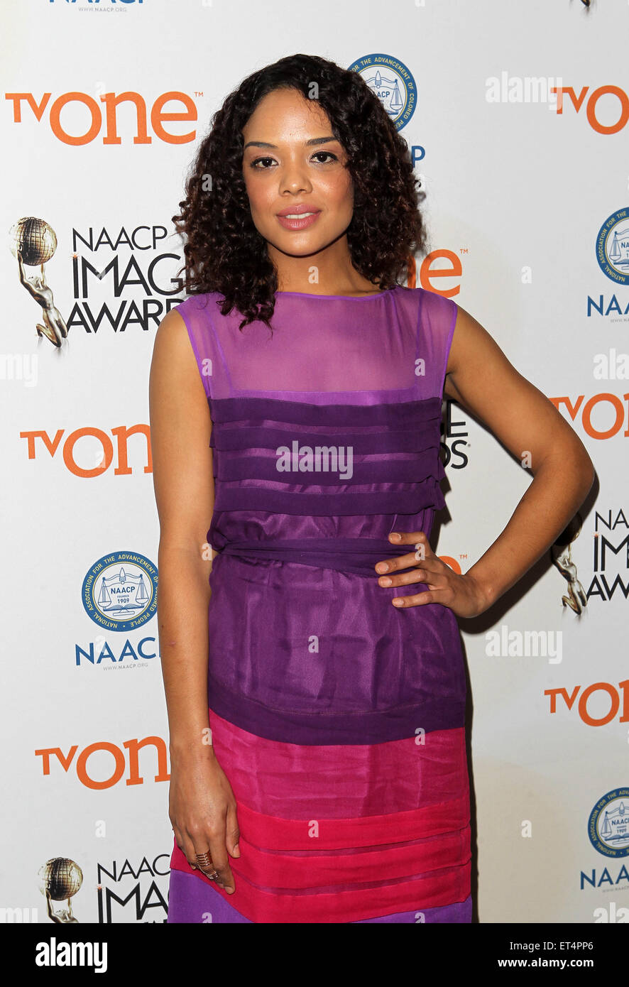 46th NAACP Image Awards - Nomination Announcement and Press Conference  Featuring: Tessa Thompson Where: Beverly Stock Photo
