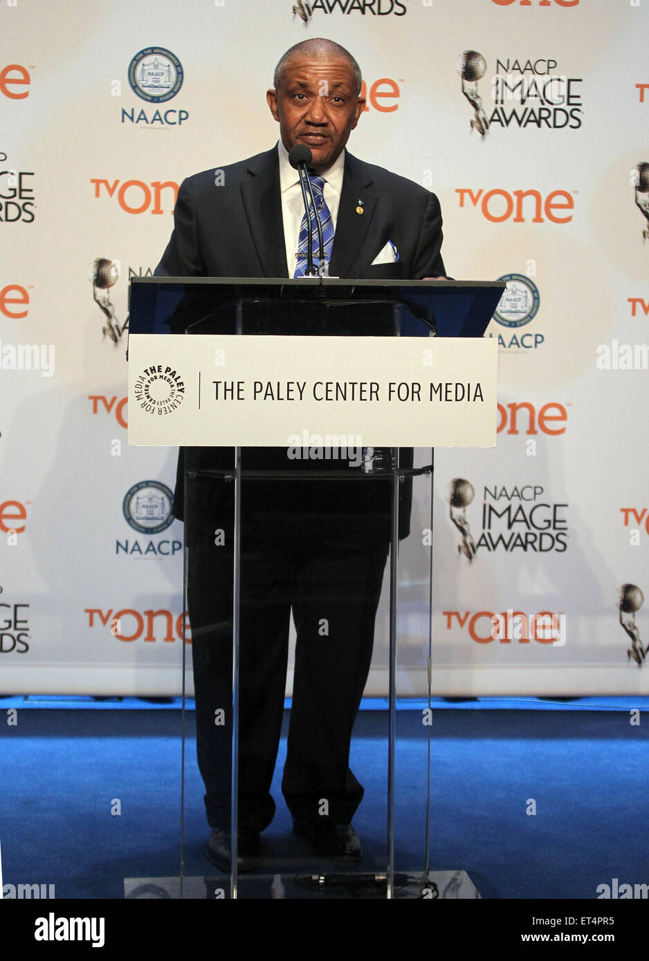 46th NAACP Image Awards - Nomination Announcement and Press Conference  Featuring: Guest Where: Beverly Hills, California, Stock Photo