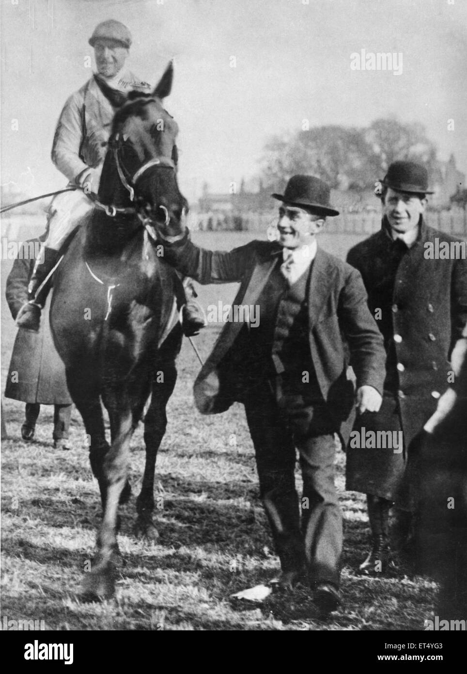 Poethlyn seen here after winning the 1919 Grand National  28th March  1919 - Stock Image