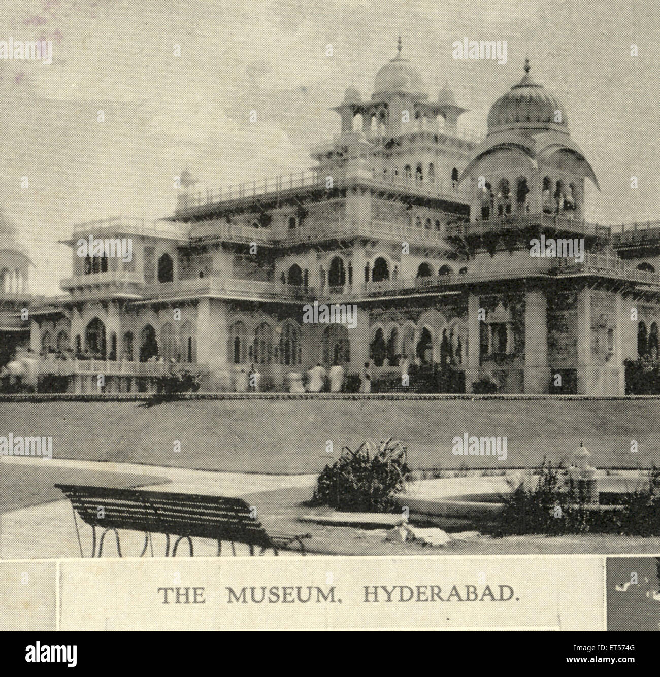The museum of Hyderabad ; Andhra Pradesh ; India 10th February 1906 - Stock Image