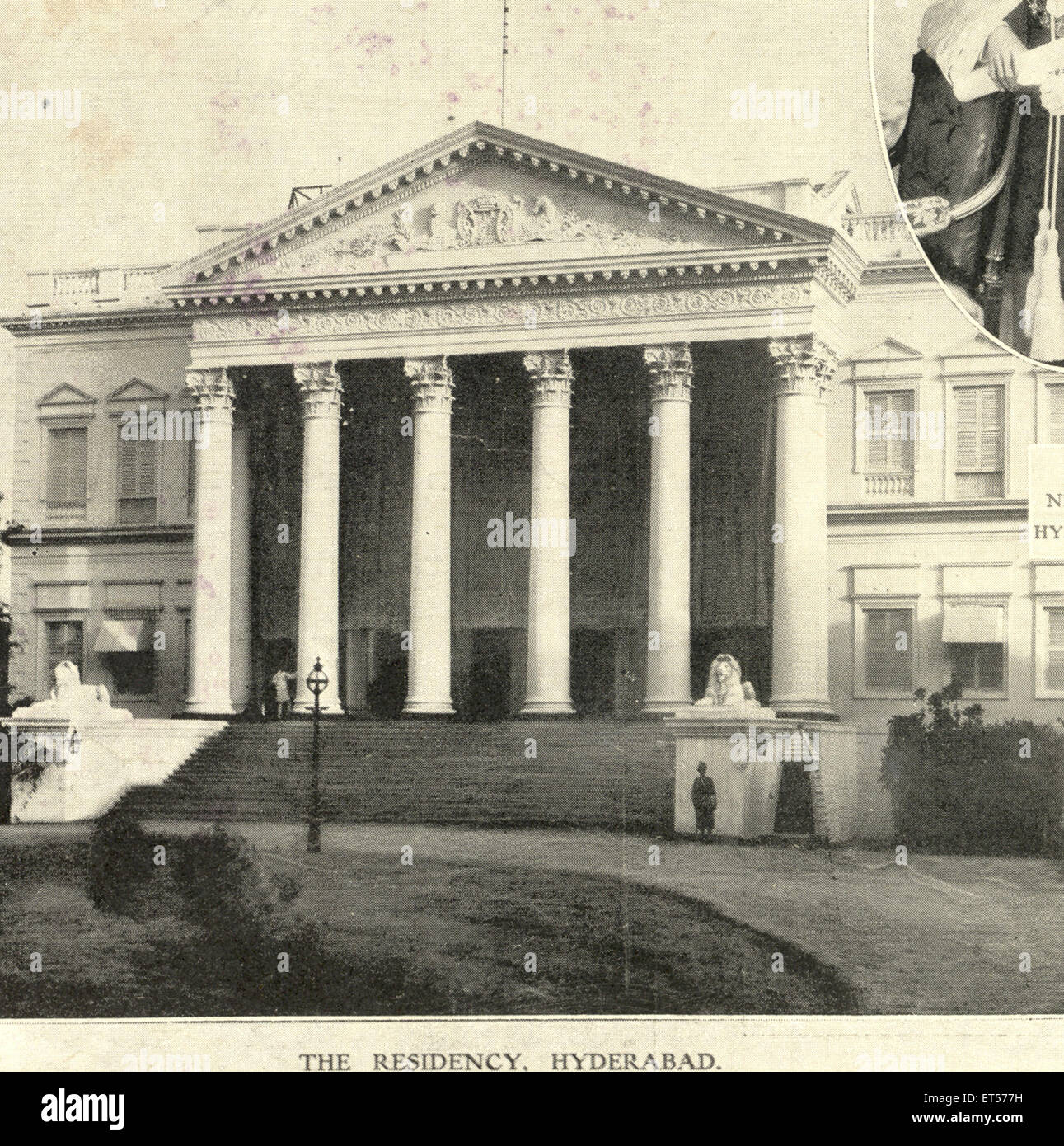 The residency ; 10th February 1906 ; Hyderabad ; Andhra Pradesh ; India - Stock Image