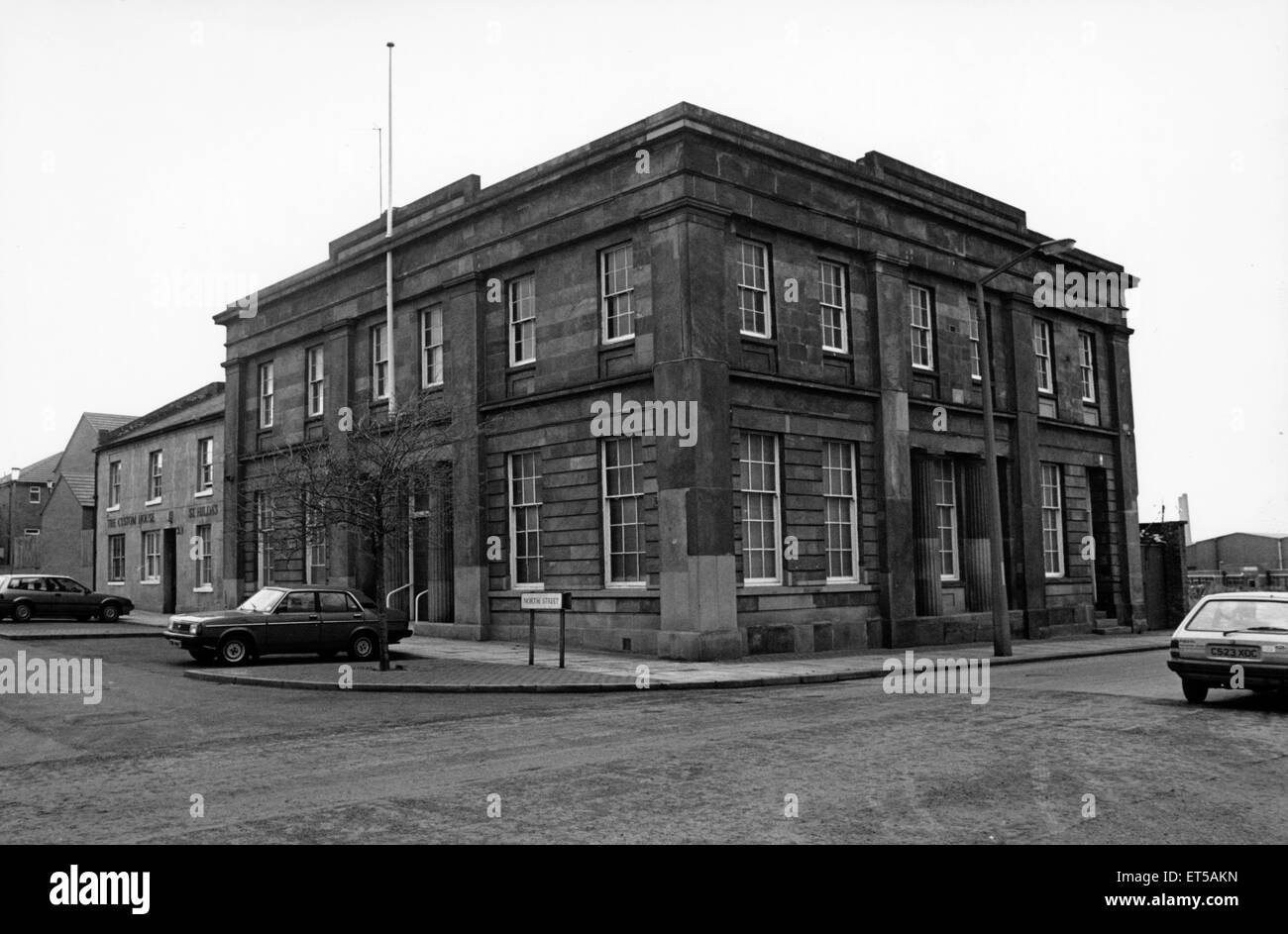 The Custom House, St Hilda, Middlesbrough, 1st March 1989. - Stock Image