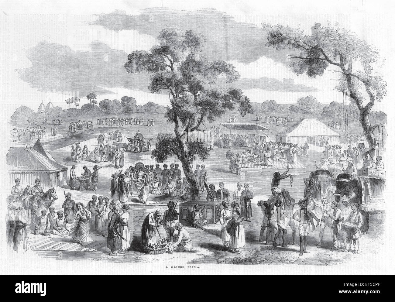 General View A Hindoo Hindu Fair ; India Stock Photo
