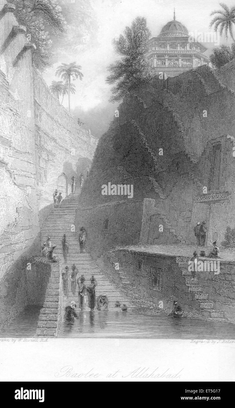 Baolee at Allahabad ; Uttar Pradesh ; India - Stock Image