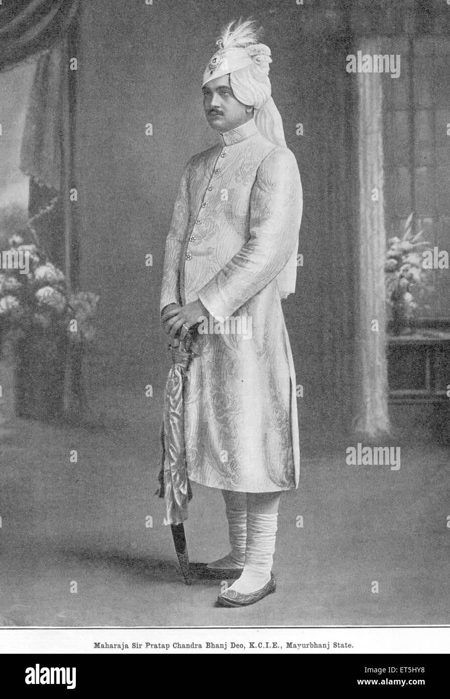 Princes of India Maharaja Sir Pratap Chandra Bhanj Deo K.C.I.E. Mayurbhanj State Orissa Odisha India - Stock Image