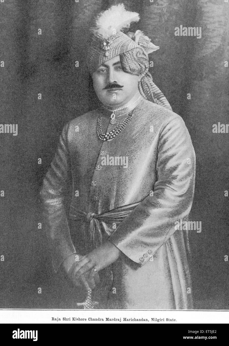 Princes of India Raja Shri Kishore Chandra Mardraj Harichandan Nilgiri State ; Tamil Nadu ; India NO MR - Stock Image