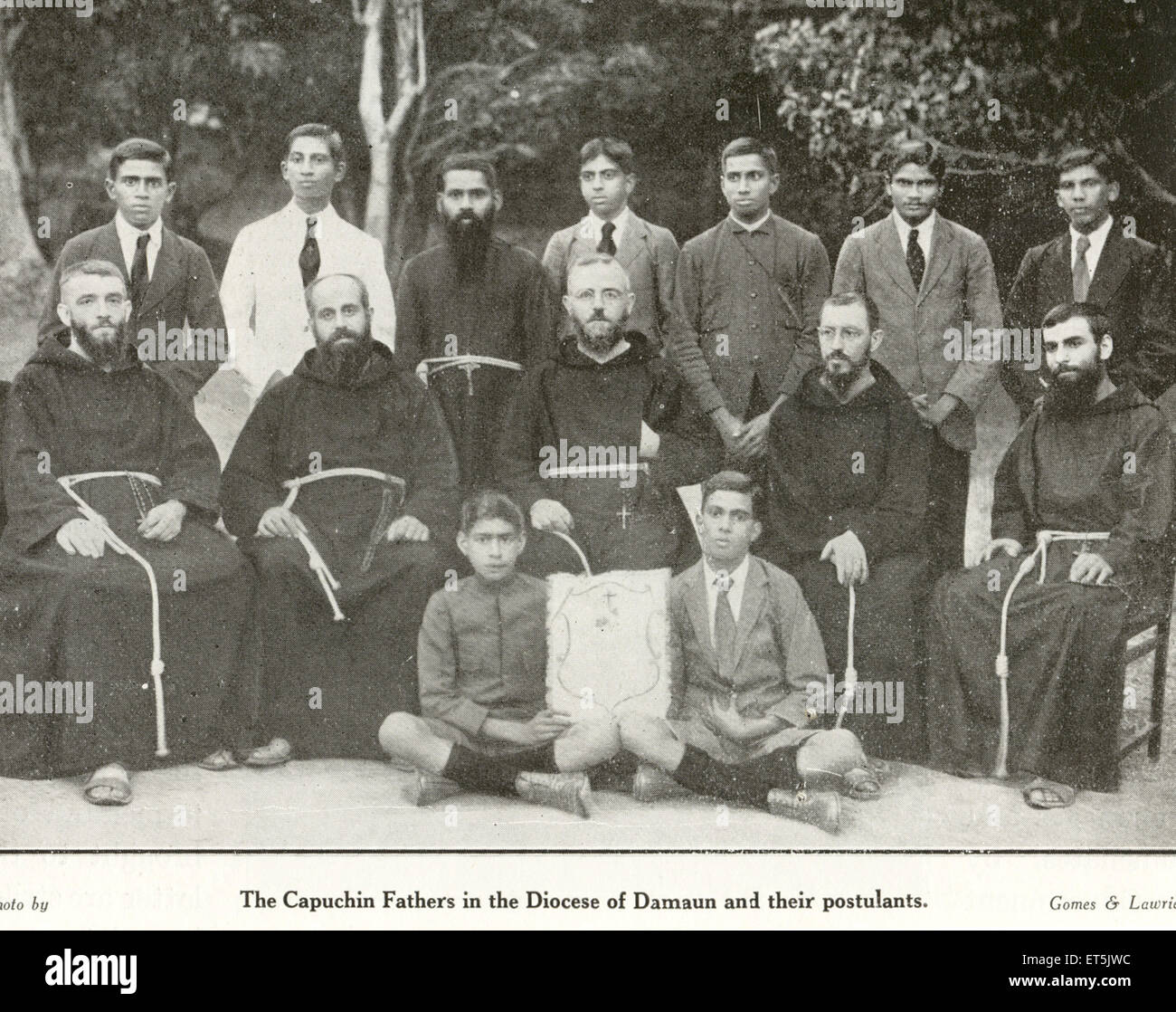 Catholic Community Capuchin Fathers in the Diocese of Damaun and their Postulants ; Daman ; India NO MR - Stock Image
