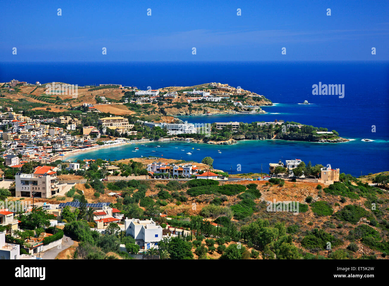 Panoramic view of Agia Pelagia, Heraklion, Crete, Greece. - Stock Image