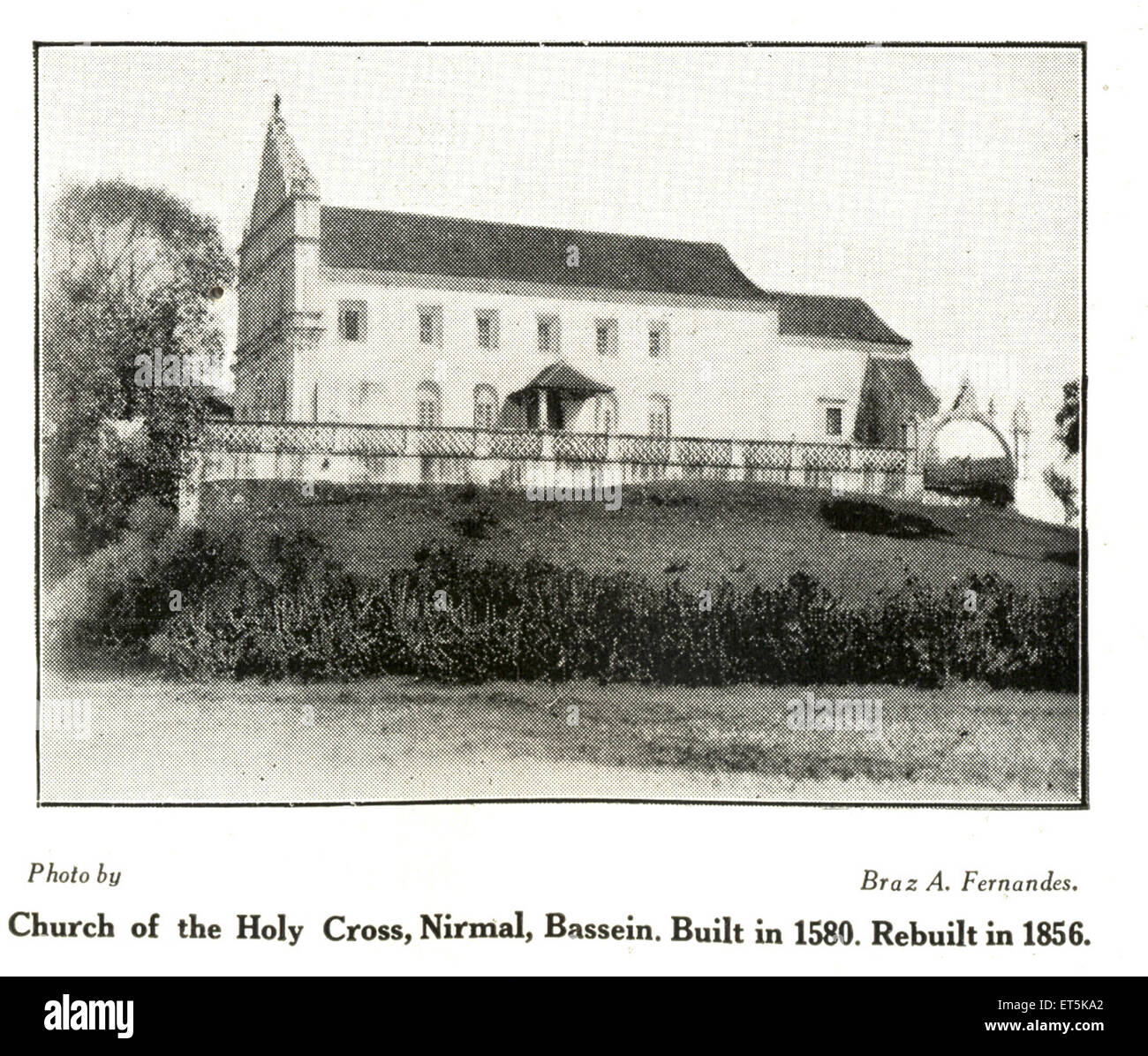 Catholic Community Church of the Holy Cross ; Nirmal ; Bassein built in 1580 rebuilt in 1856 ; Vasai ; Maharashtra - Stock Image