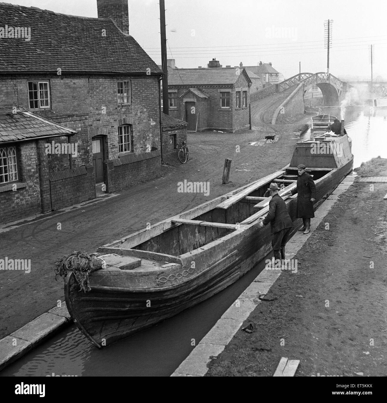 Canal scenes. April 1954 - Stock Image