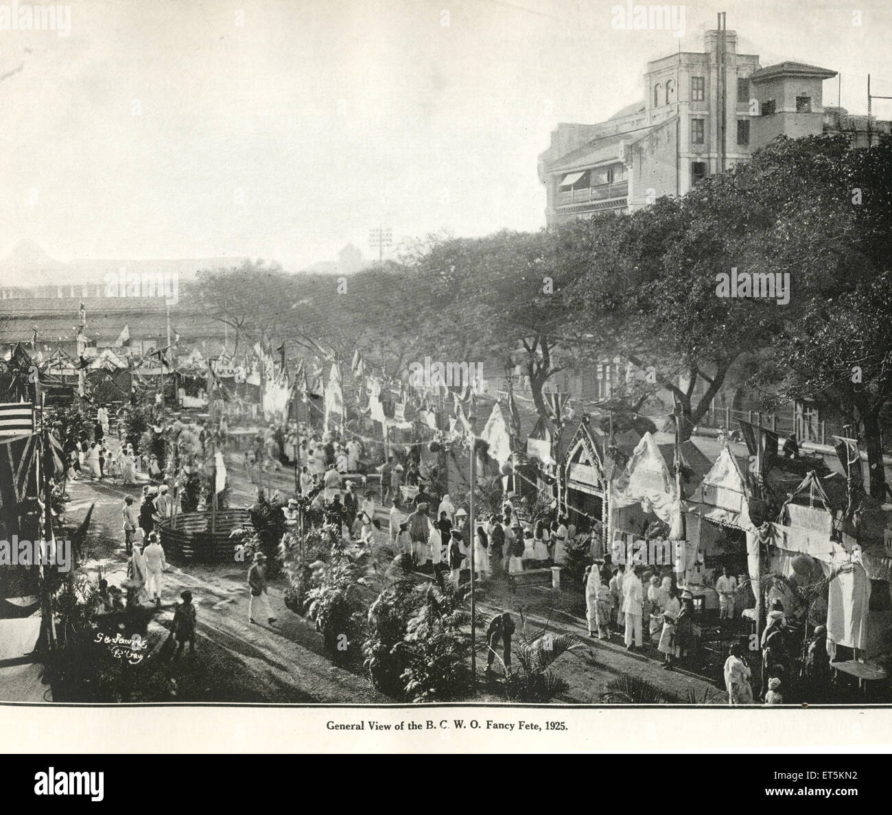 Catholic Community General View of the B. C. W. O. Fancy Fete ; 1925 ; India - Stock Image