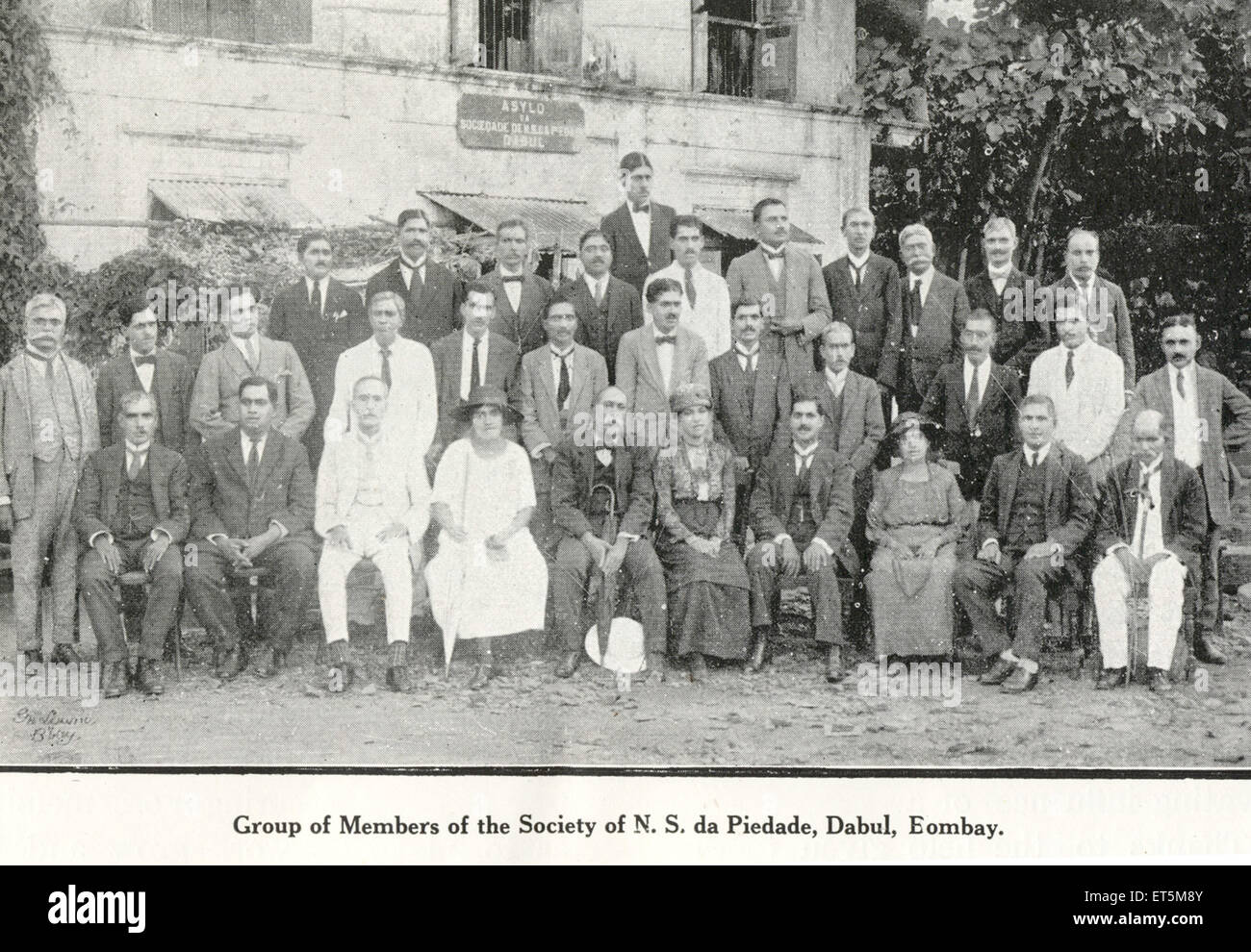 Catholic community group of Members of Society of N. S . da. Piedade ; Dabul ; Bombay Mumbai ; Maharashtra ; India - Stock Image