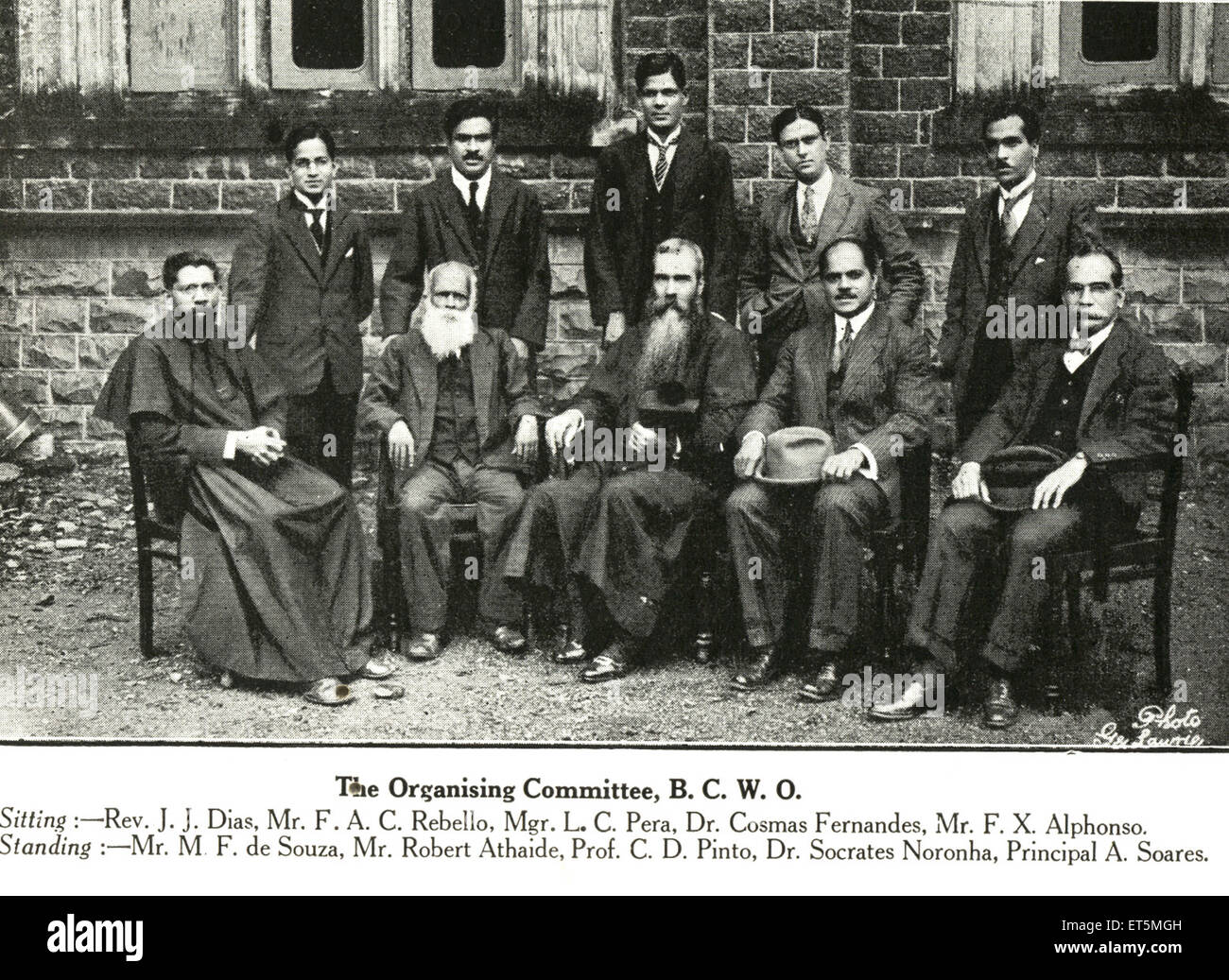 Catholic community The Organizing Committee B. C. W. O. ; India NO MR - Stock Image