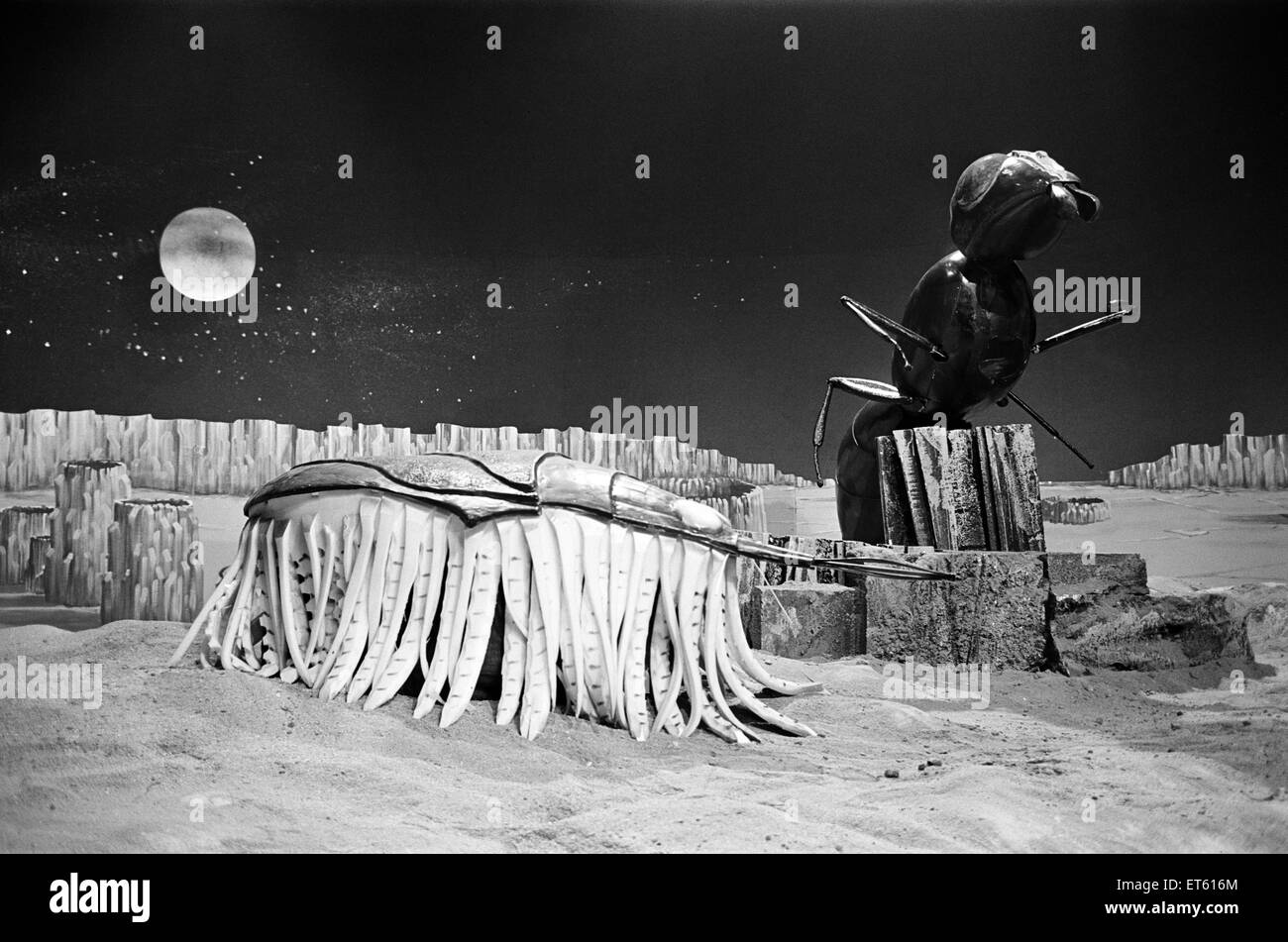 The Dr Who television serial written by Bill Struttonwill, 'The Web Planet'.  BBC TV film studio at Ealing. - Stock Image