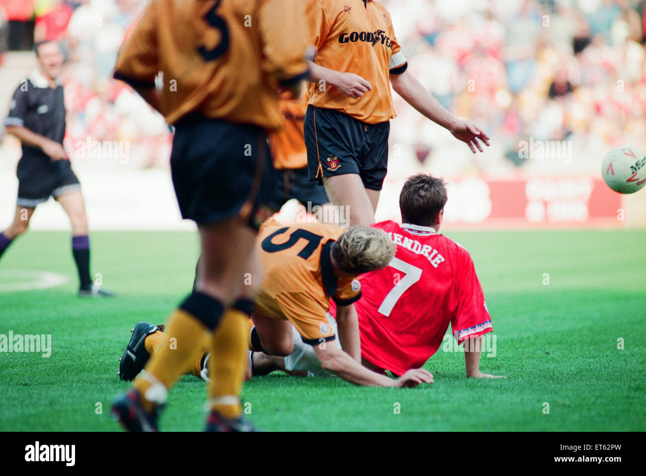 Wolves 2-3 Middlesbrough, League match at Ayresome Park, Saturday 28th August 1993. - Stock Image