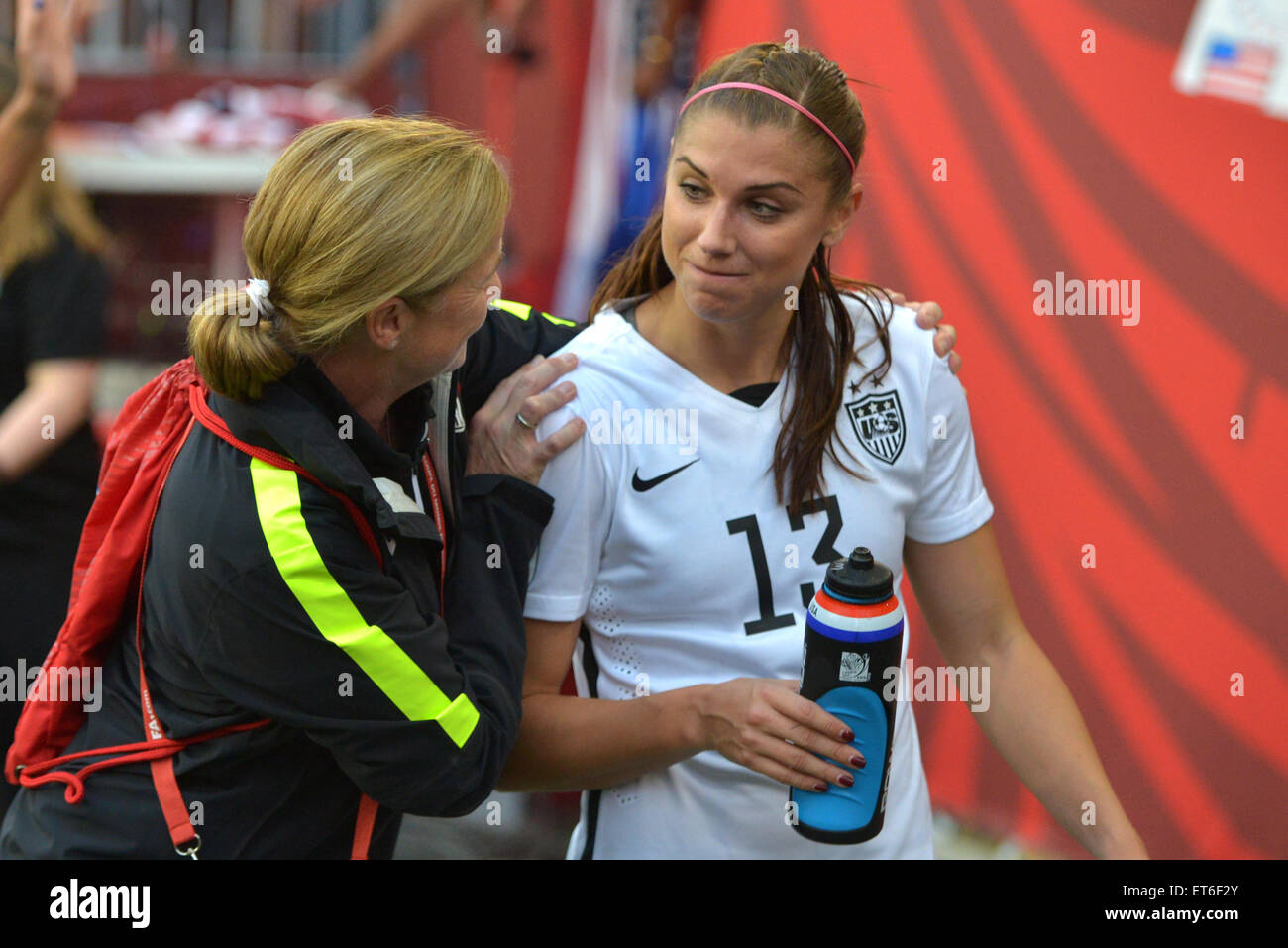 Jill ELLIS And Alex MORGAN After The FIFA Womens World Cup Canada 2015 Group D Match Between USA Australia