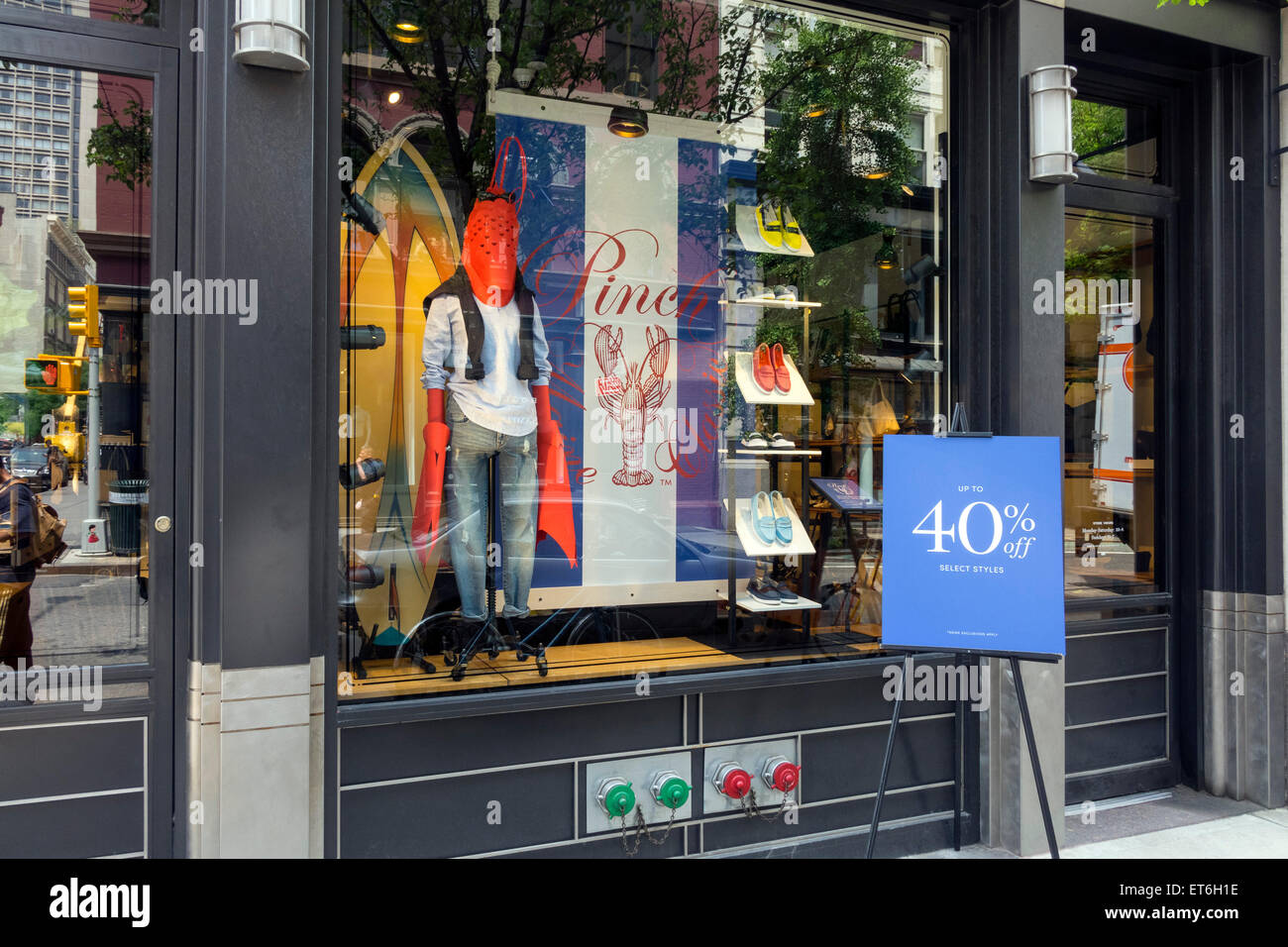 Pinch Classic men's boutique in Soho in New York City - Stock Image