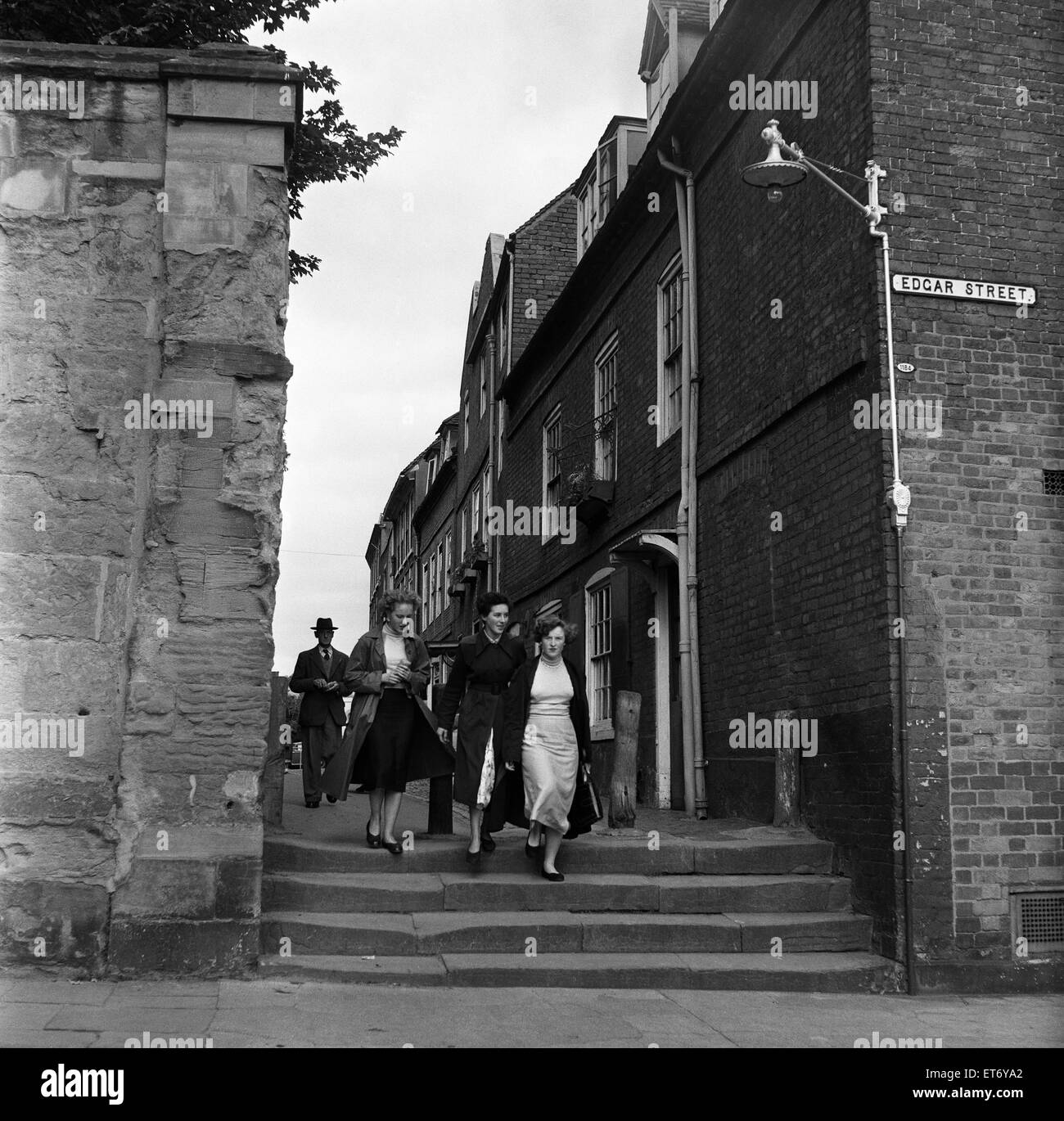 Edgar Street in Worcester, Worcestershire. 24th September 1954. - Stock Image