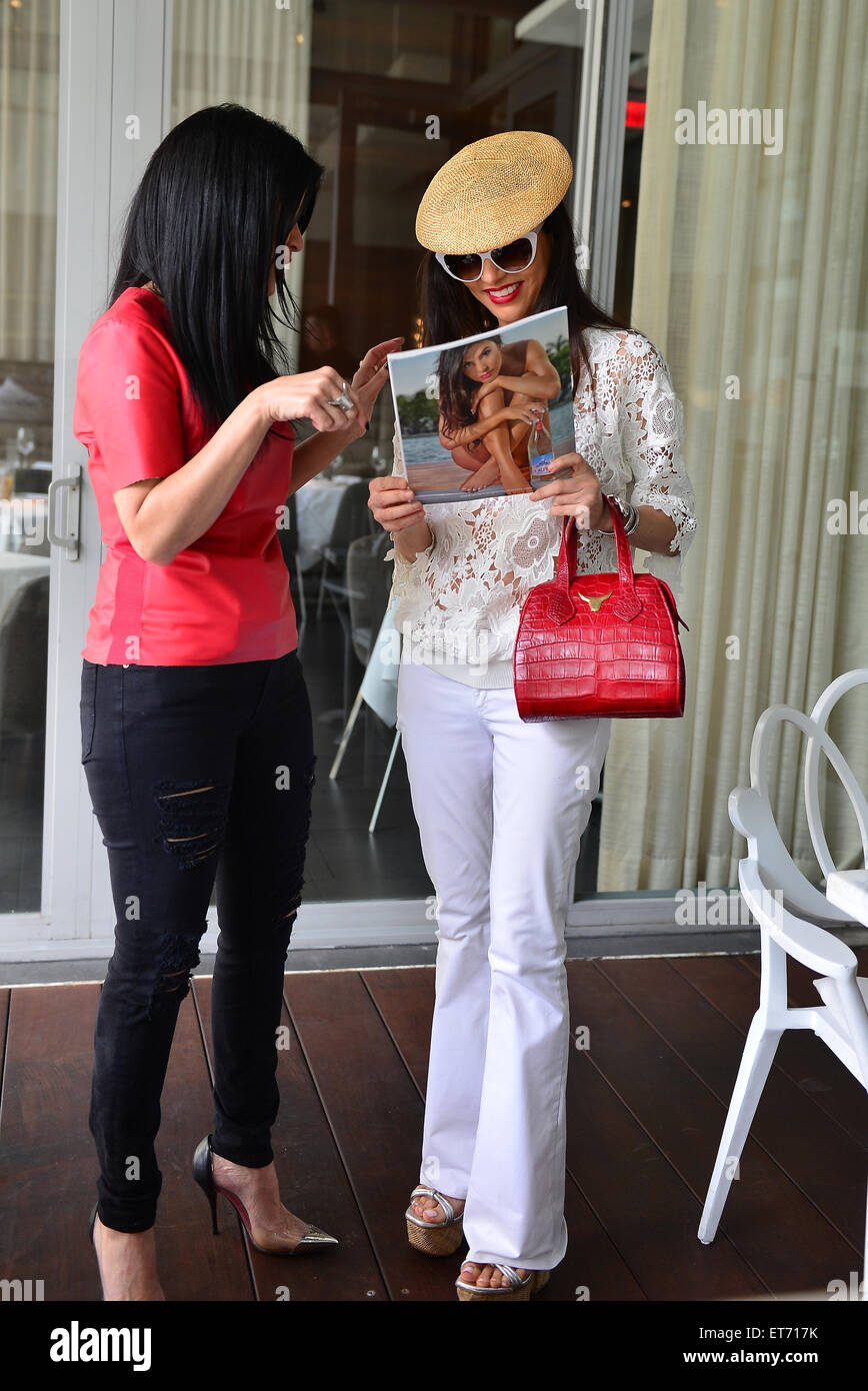 The Real Housewives Of Miami Star, Adriana De Moura Dining At MC Kitchen  Celebrating Her Cover For Design District Magazine And Lu0027Alpina Ad Campaign  ...