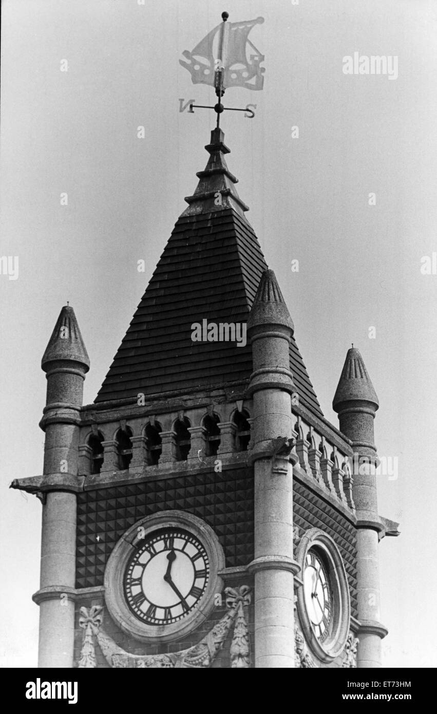 Clock Tower, Redcar, 17th September 1982. - Stock Image
