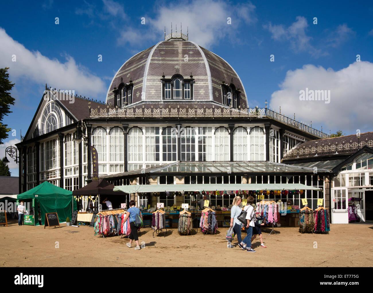 UK, England, Derbyshire, Buxton, Pavilion Gardens, Octagon - Stock Image
