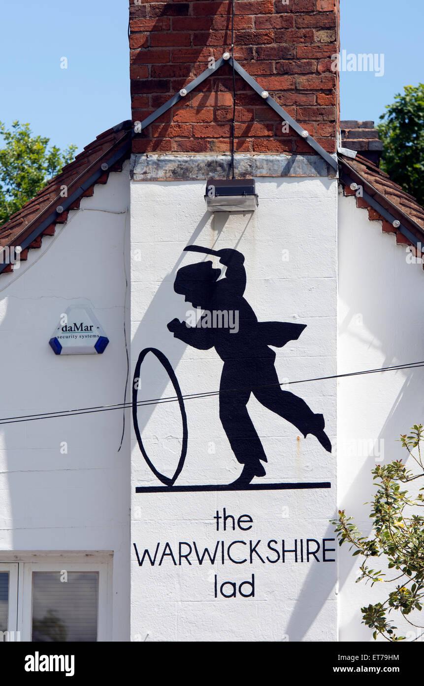 The Warwickshire Lad pub, Wood End, Tanworth in Arden, Warwickshire, England, UK - Stock Image