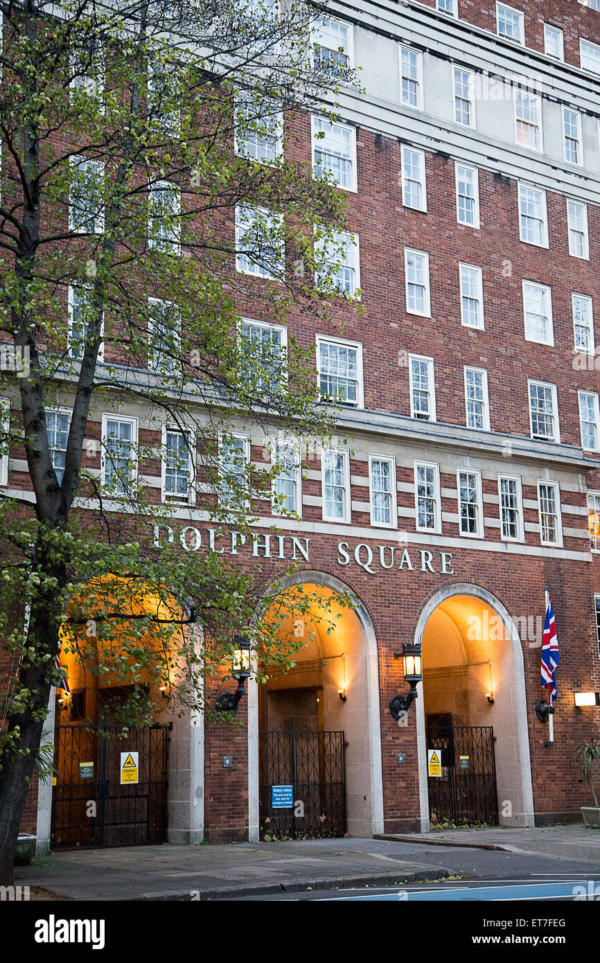 Dolphin Square in central London that is being linked to a suspected pedophile ring.  Featuring: Atmosphere Where: Stock Photo