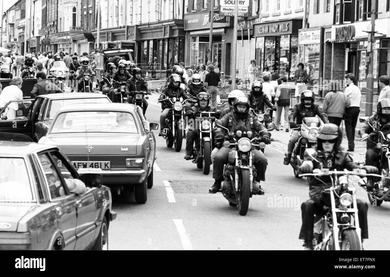 More than 60 members of Northallerton Motorcycle Action Group rode through the town at the weekend as part of an - Stock Image
