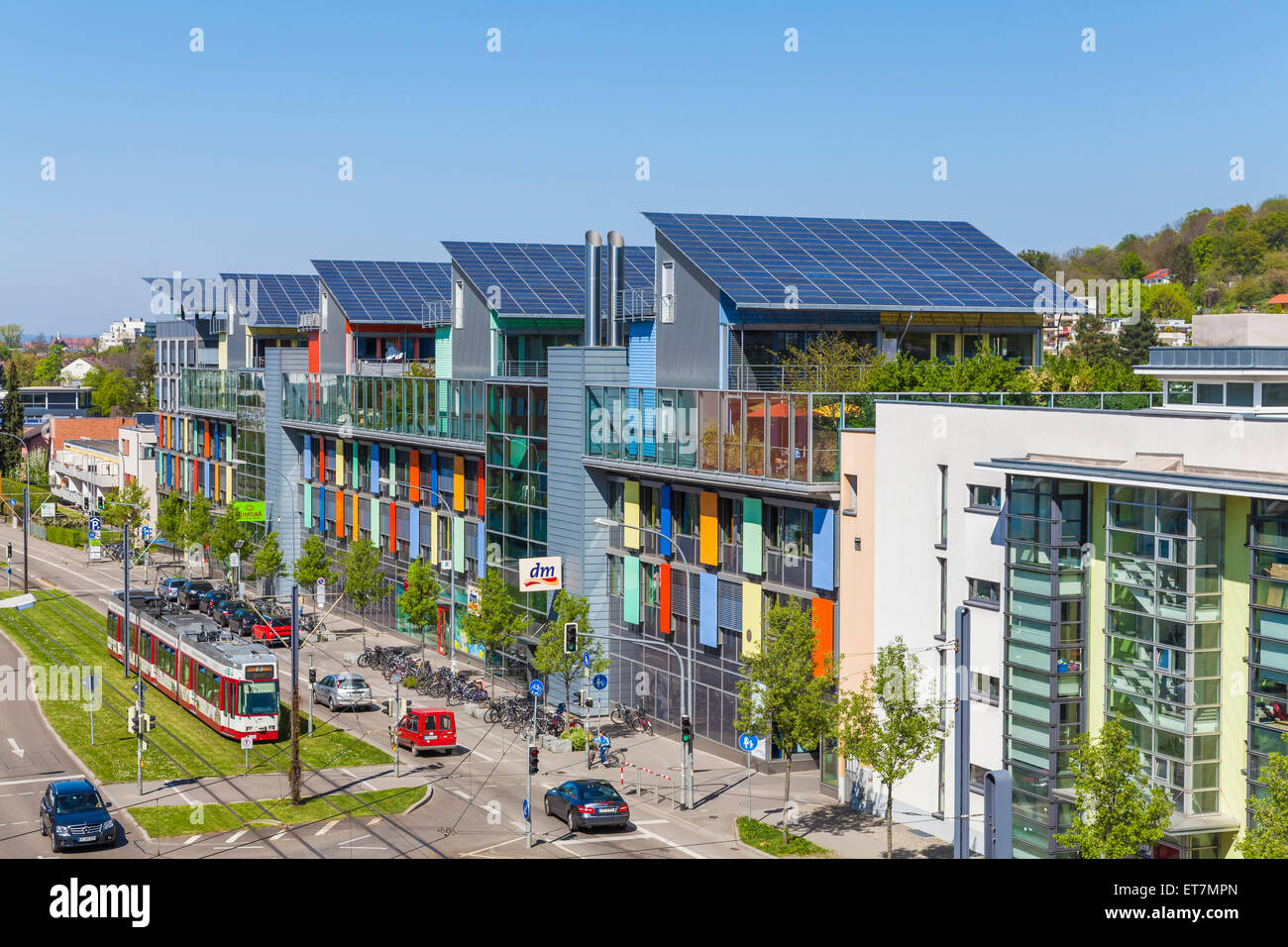 germany freiburg im breisgau energy plus houses at freiburg vauban stock photo 83763197 alamy. Black Bedroom Furniture Sets. Home Design Ideas