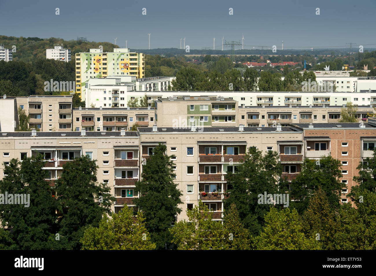 Berlin Germany View Of The Prefabricated Buildings Of Stock Photo