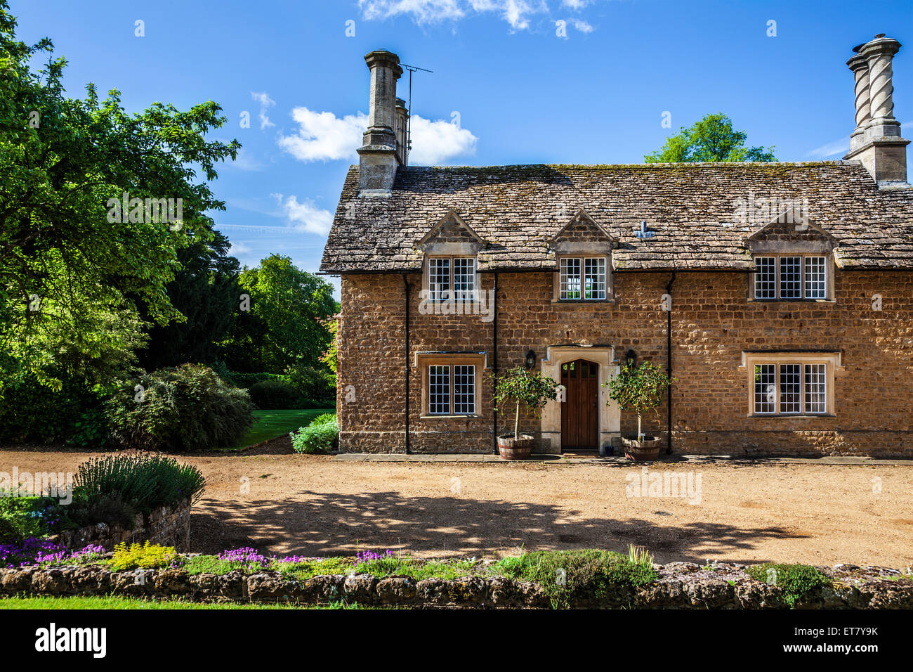 Queenwood, the Georgian Lodge set in the grounds of the Bowood Estate in Wiltshire. - Stock Image