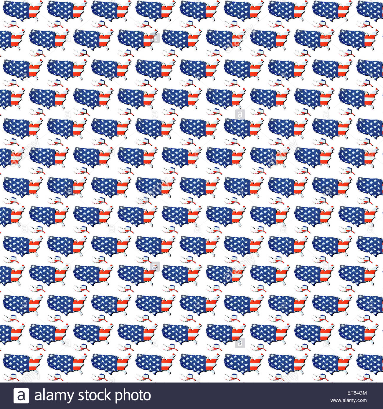 Digital Illustration   Wallpaper USA Map And Stars And Stripes Flag