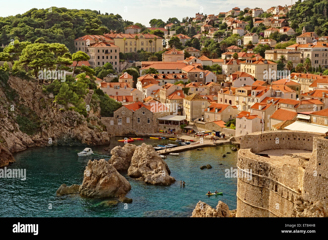 West bay of Dubrovnik Old city in Croatia Stock Photo