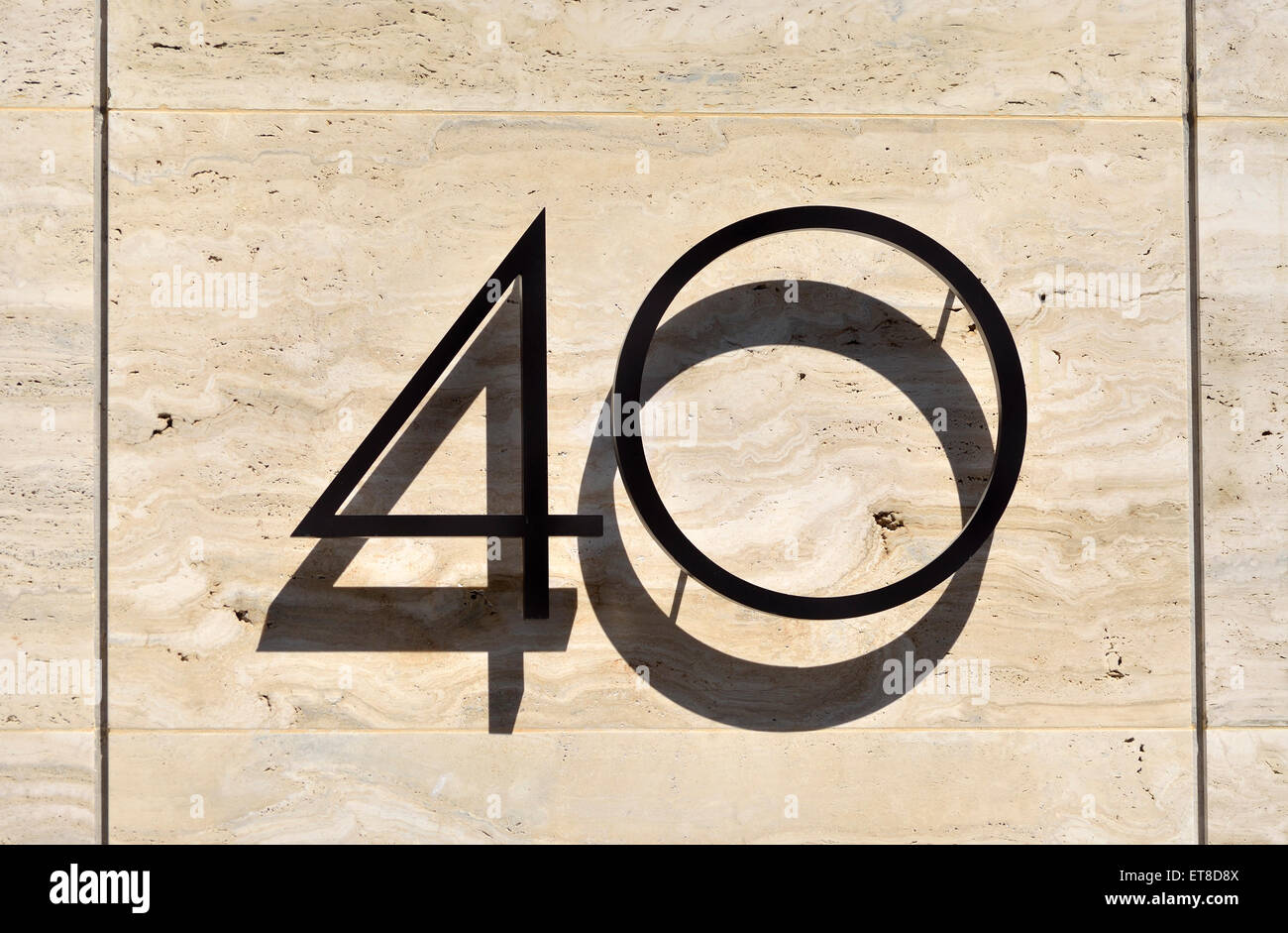 London, England, UK. Number 40 (in Chancery Lane) - Stock Image