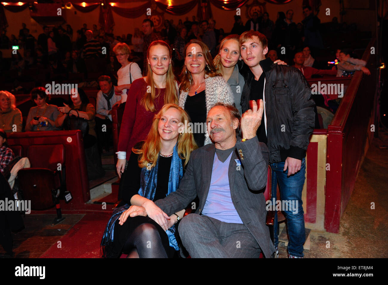 Premiere of the winter program of circus Krone  Featuring: Franz Xaver Kroetz mit Freundin und Ex-Frau Marie Therese - Stock Image