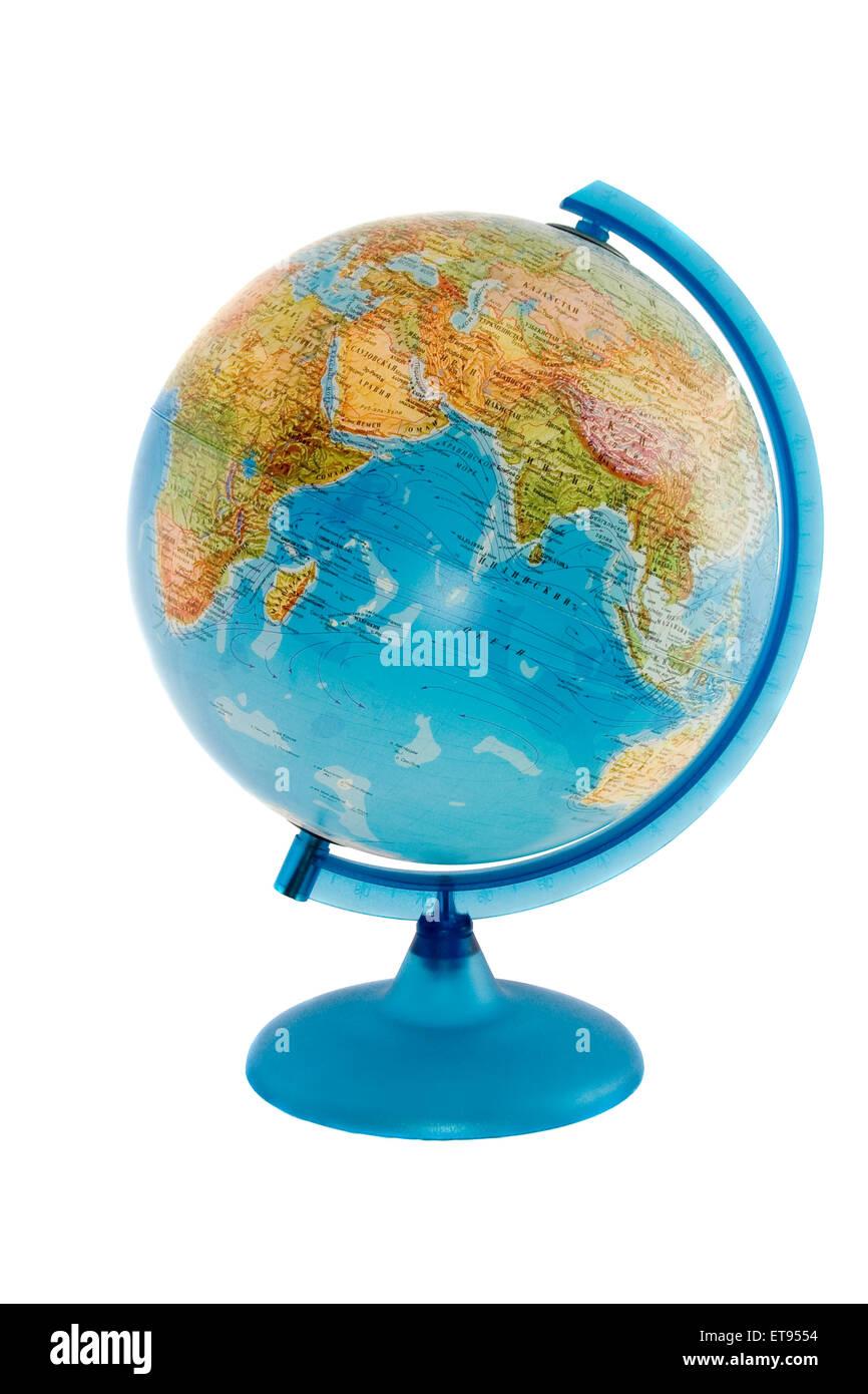 The globe isolated over white background - Stock Image