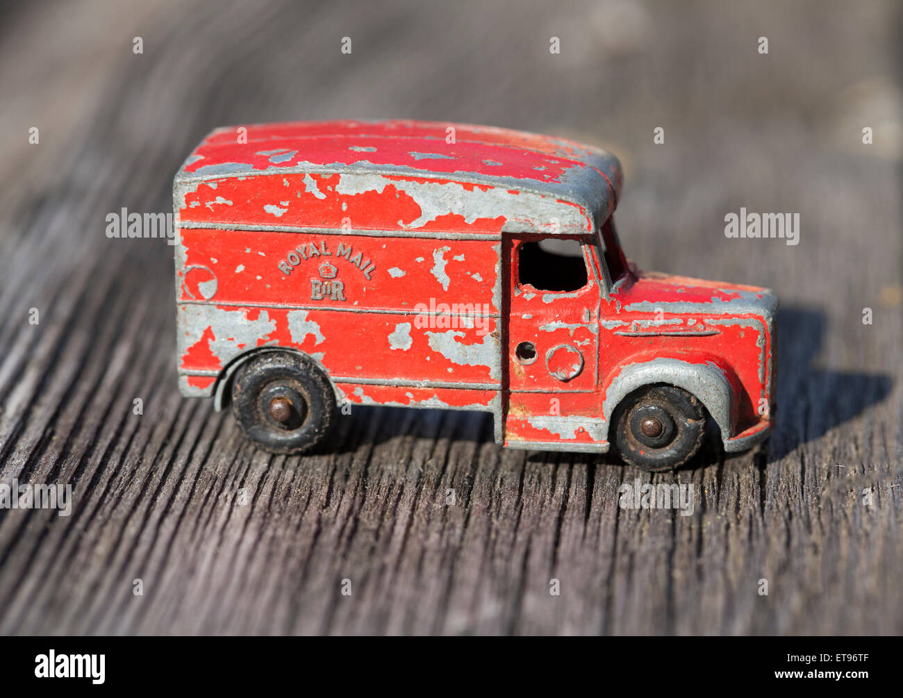 Vintage Diecast Toy Royal Mail Van Stock Photo