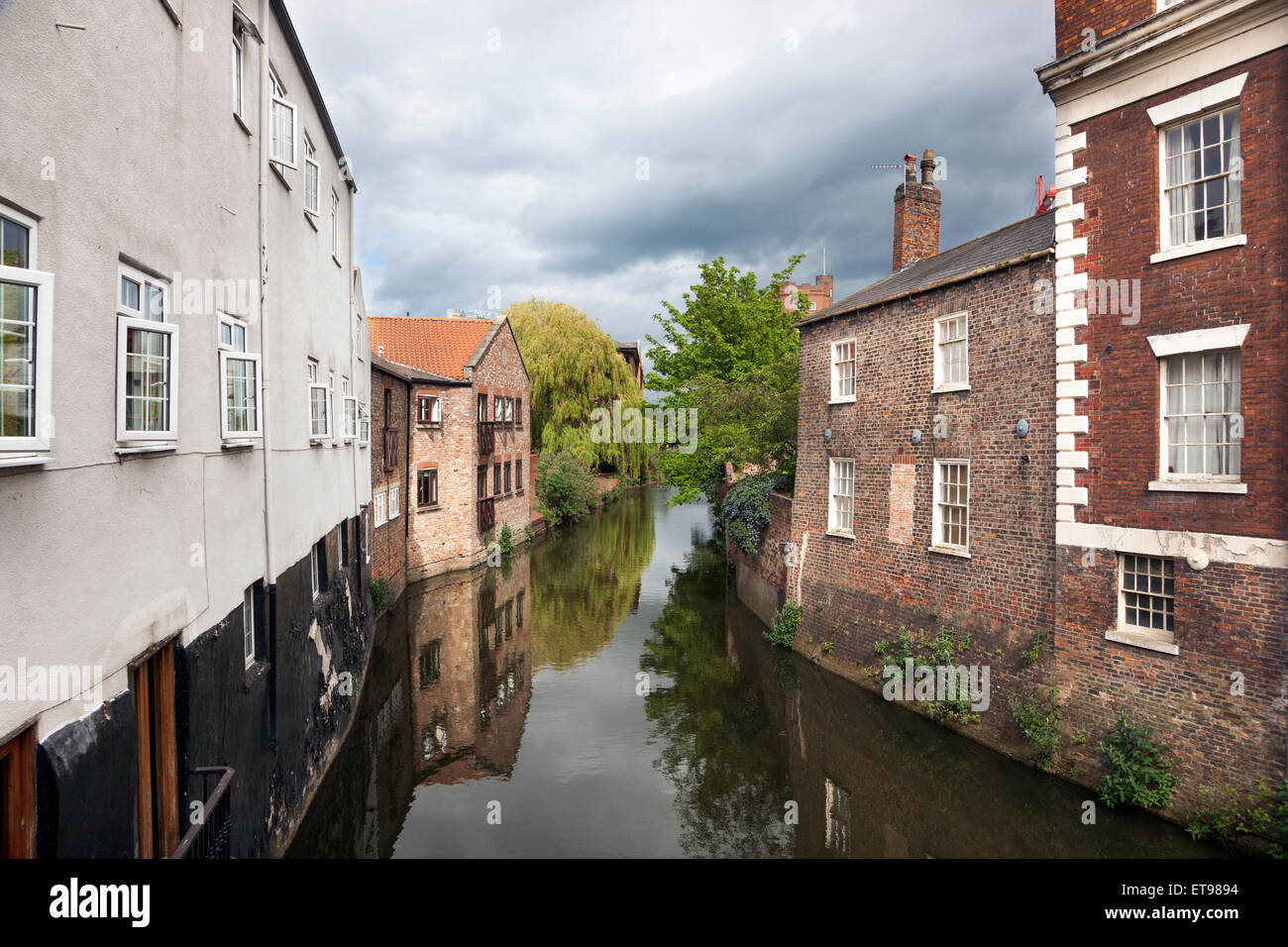 River Foss in York, England - Stock Image